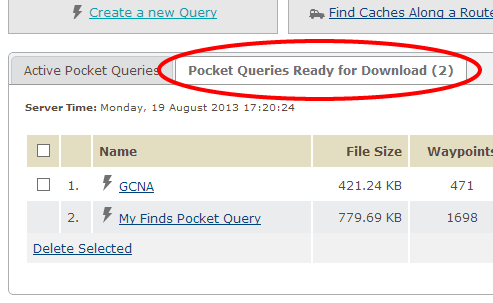 pocket query